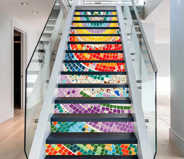 3D Rainbow 438 Stair Risers Wallpaper AJ Wallpaper