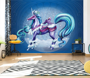 3D Cloud Unicorn 107 Rose Catherine Khan Wall Mural Wall Murals
