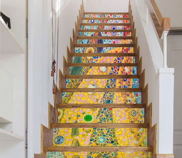 3D Mosaic Pattern 646 Stair Risers Wallpaper AJ Wallpaper