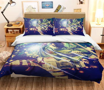 3D Attack On Titan 1645 Anime Bed Pillowcases Quilt Quiet Covers AJ Creativity Home