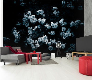 3D White Flowers 104 Noirblanc777 Wall Mural Wall Murals