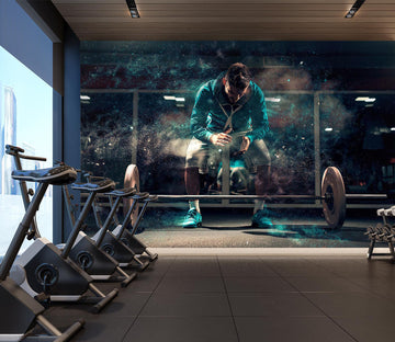 3D Fitness Squat 302 Wall Murals