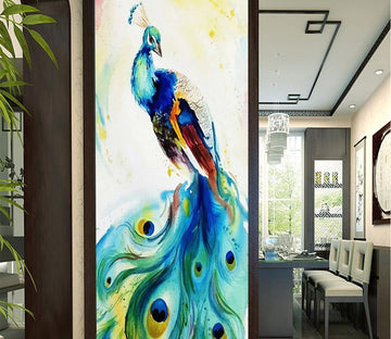 3D Peacock 381 Wall Murals