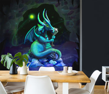 3D Cave Dragon 1402 Rose Catherine Khan Wall Mural Wall Murals