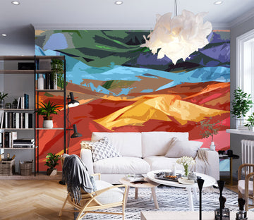 3D Colored Mountains Final 71074 Shandra Smith Wall Mural Wall Murals