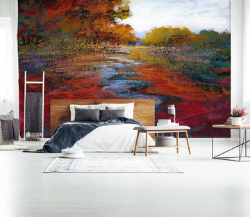 3D Red Maple Leaf 1541 Michael Tienhaara Wall Mural Wall Murals