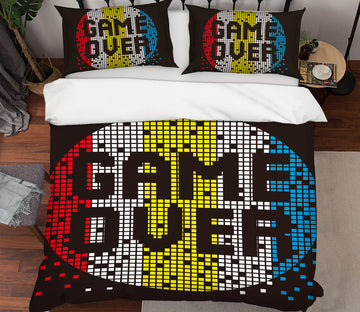 3D Game Over 64020 Bed Pillowcases Quilt