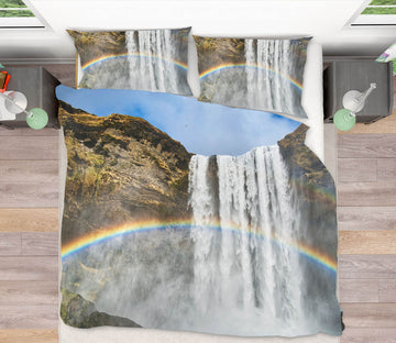 3D Waterfall Rainbow 140 Marco Carmassi Bedding Bed Pillowcases Quilt