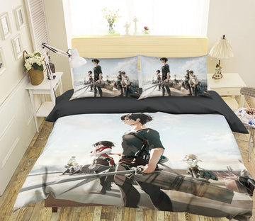 3D Attack On Titan 1266 Anime Bed Pillowcases Quilt Quiet Covers AJ Creativity Home