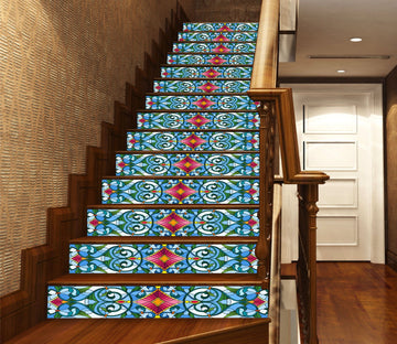 3D Retro Pattern 2641 Stair Risers