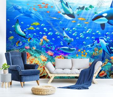 3D Have Fun Swimming 1410 Adrian Chesterman Wall Mural Wall Murals