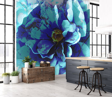 3D Blue Flower 71086 Shandra Smith Wall Mural Wall Murals