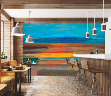 3D Sunset Sea 1537 Michael Tienhaara Wall Mural Wall Murals