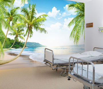 3D Beach Coconut Tree 302 Wall Murals