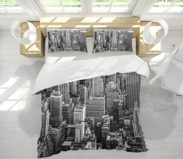 3D Grey City 126 Marco Carmassi Bedding Bed Pillowcases Quilt