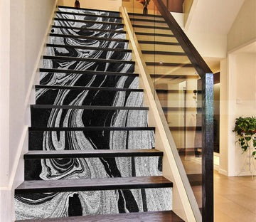 3D Mixed Ink 652 Marble Tile Texture Stair Risers Wallpaper AJ Wallpaper