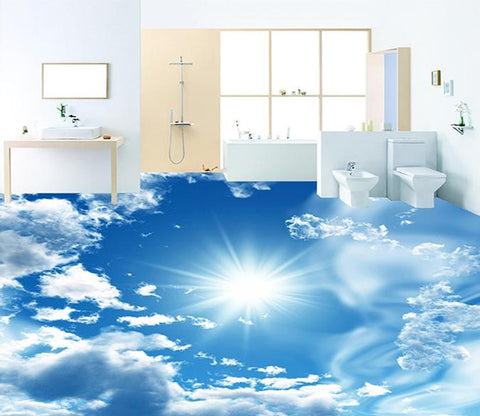 3D Baiyun Sunshine WG261 Floor Mural Wallpaper AJ Wallpaper 2