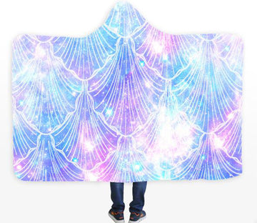 3D Shell Pattern 072 Hooded Blanket
