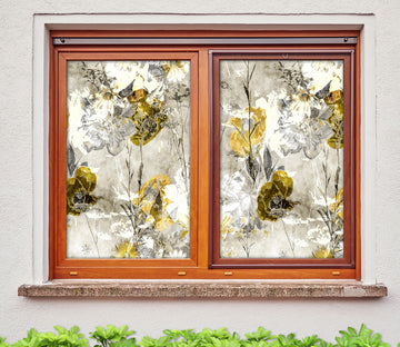 3D Abstract Art Flower 421 Window Film Print Sticker Cling Stained Glass UV Block