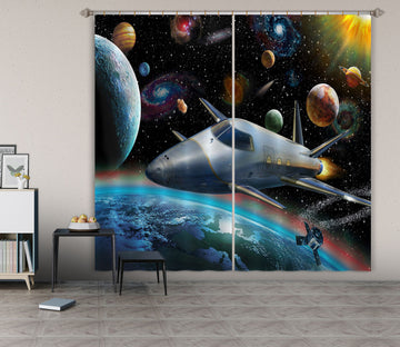 3D Planet Spaceship 060 Adrian Chesterman Curtain Curtains Drapes