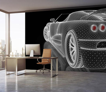 3D Car Light 943 Vehicle Wall Murals