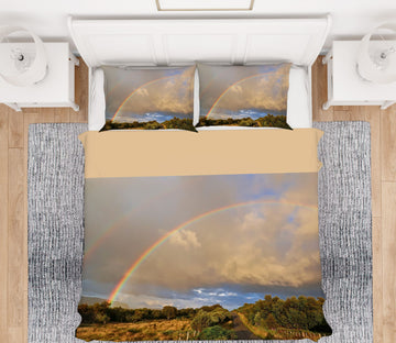 3D Scottish Rainbow 1020 Jerry LoFaro bedding Bed Pillowcases Quilt