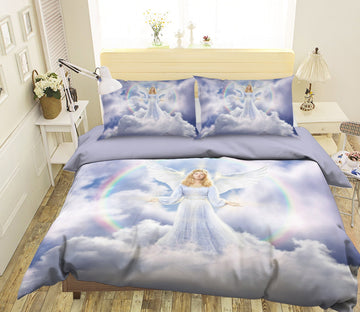 3D Angel Wings 2018 Jerry LoFaro bedding Bed Pillowcases Quilt Quiet Covers AJ Creativity Home