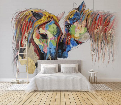3D Abstract Horse 213 Wall Murals Wallpaper AJ Wallpaper 2