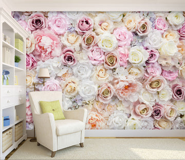 3D Colored Rose Flower 91 Wall Murals