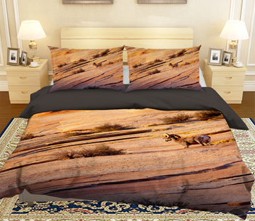 3D Antelope Mountain 066 Bed Pillowcases Quilt