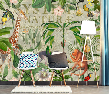 3D Animal Forest 1432 Andrea haase Wall Mural Wall Murals Wallpaper AJ Wallpaper 2