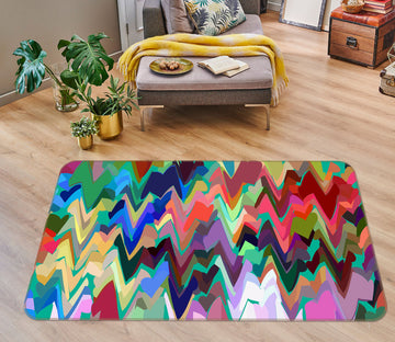 3D Colored Wavy 71028 Shandra Smith Rug Non Slip Rug Mat