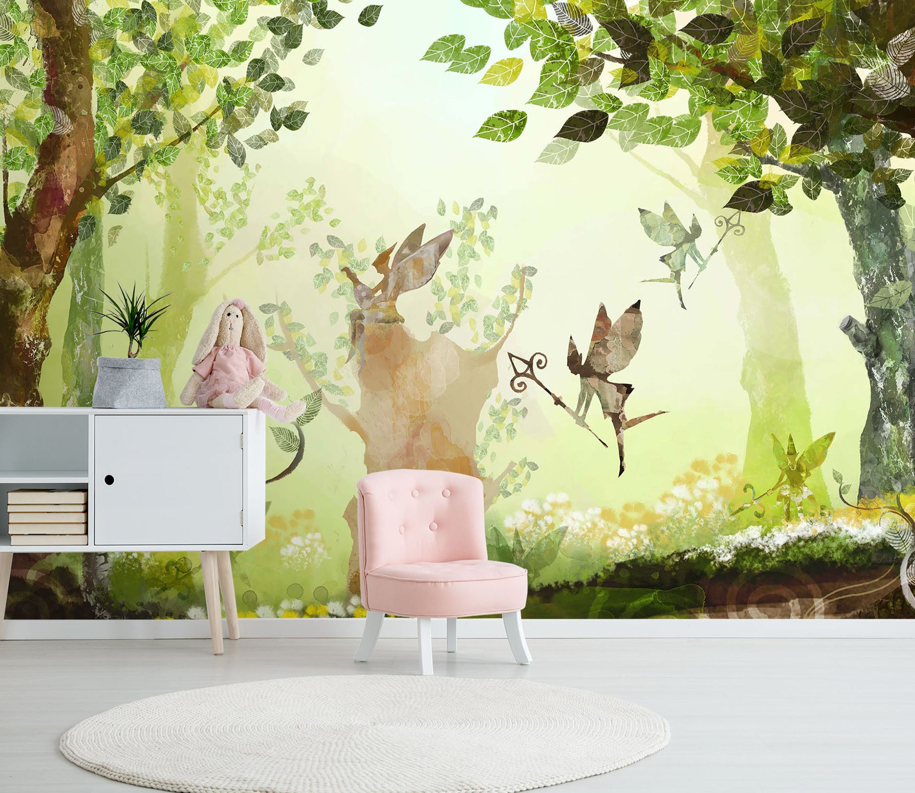 3D Cartoon Forest 055 Wall Murals