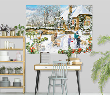 3D A Winter Garden 013 Trevor Mitchell Wall Sticker Wallpaper AJ Wallpaper 2