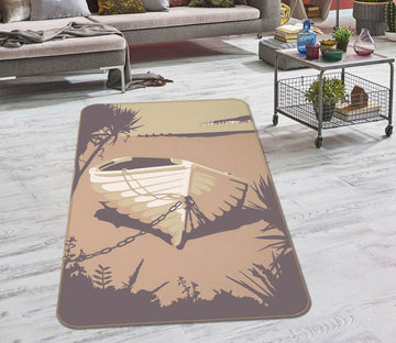 3D Sandbanks The Purbecks 1139 Steve Read Rug Non Slip Rug Mat