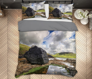 3D Black Stones River 1011 Jerry LoFaro bedding Bed Pillowcases Quilt