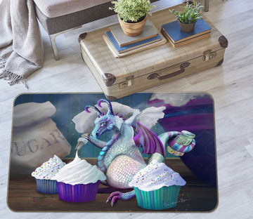 3D Cup Cake 3001 Rose Catherine Khan Rug Non Slip Rug Mat
