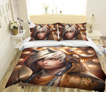 3D Golden Prince 444 CG Anime Bed Pillowcases Duvet Cover Quilt Cover