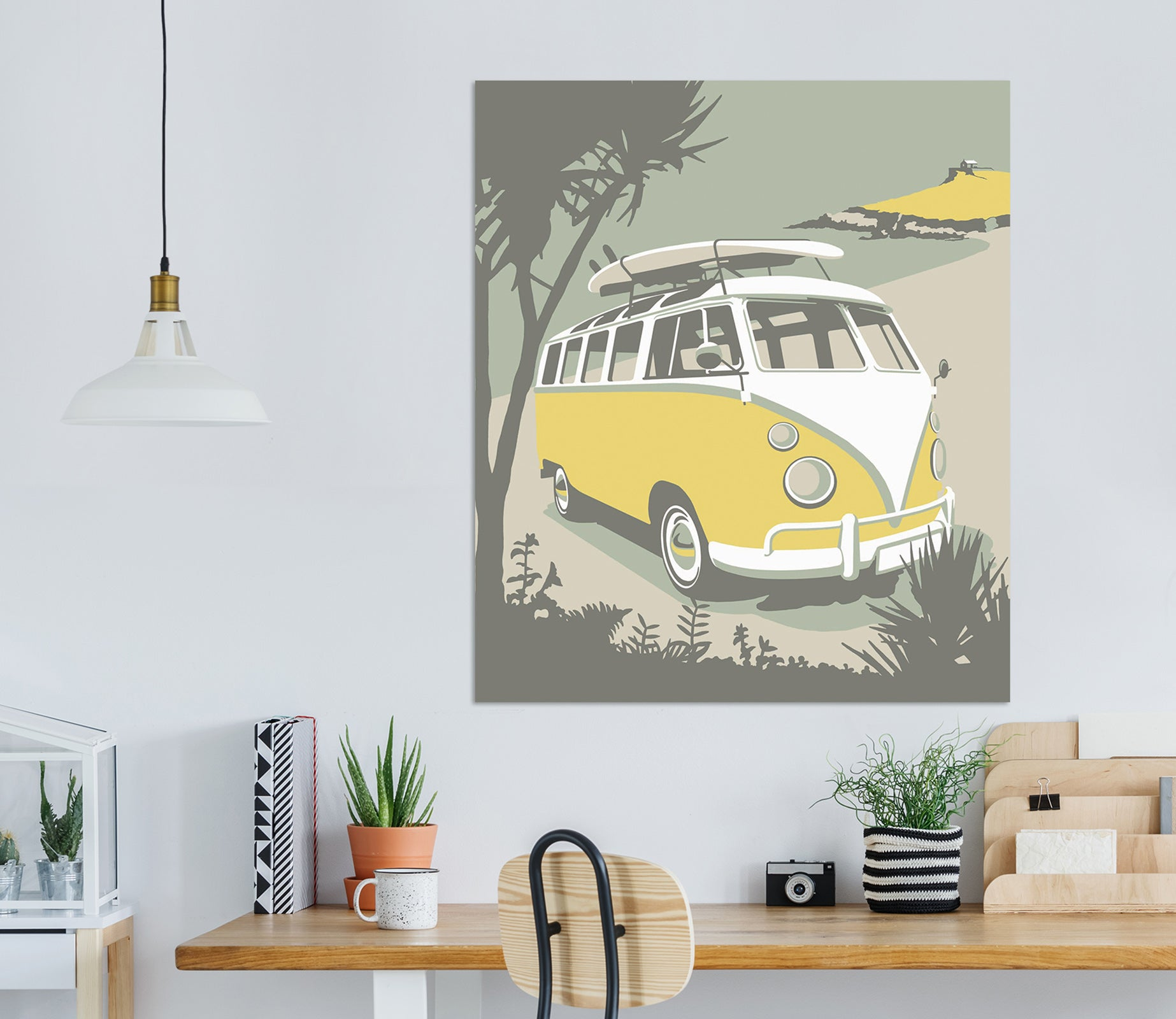 3D Yellow Bus 070 Steve Read Wall Sticker