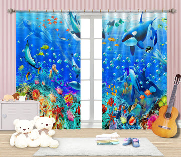 3D Underwater Panorama 050 Adrian Chesterman Curtain Curtains Drapes