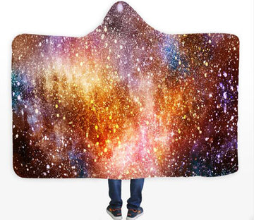 3D Starry Sky 123 Hooded Blanket
