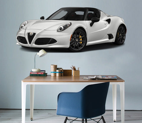 3D Alfa Romeo 4C Spider 180 Vehicles Wallpaper AJ Wallpaper