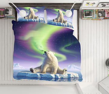 3D Arctic Kiss 2101 Jerry LoFaro bedding Bed Pillowcases Quilt Quiet Covers AJ Creativity Home