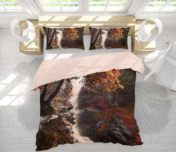 3D Mountain Falls 124 Marco Carmassi Bedding Bed Pillowcases Quilt