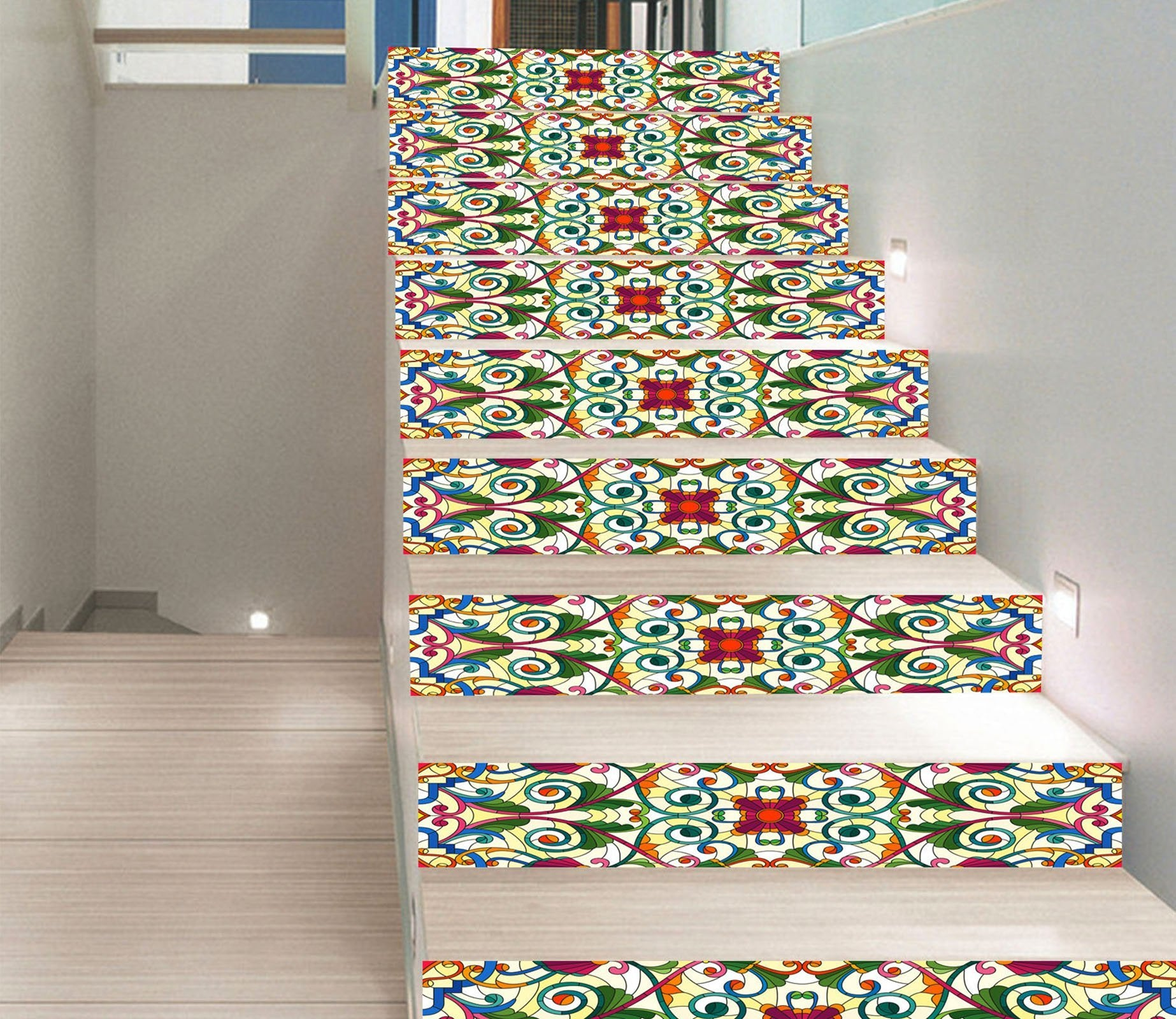 3D Retro Pattern 843 Stair Risers Wallpaper AJ Wallpaper