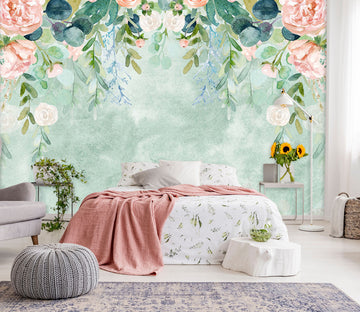 3D Pink Flower 103 Wall Murals