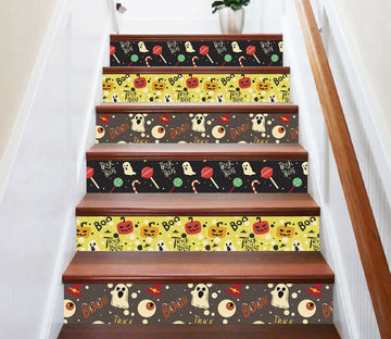 3D Cute Ghost 643 Stair Risers