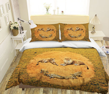 3D A Lion's Happiness Def 2104 Bed Pillowcases Quilt Exclusive Designer Vincent Quiet Covers AJ Creativity Home