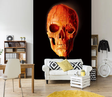 3D Wax Skull 1569 Wall Murals Exclusive Designer Vincent