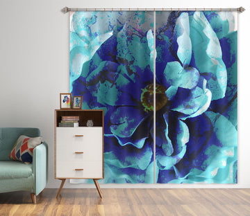 3D Blue Flower 71058 Shandra Smith Curtain Curtains Drapes